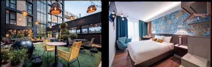 chambres et terrasse